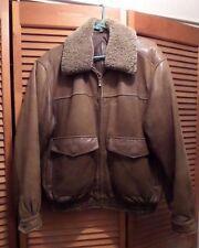 Bomber Jacket Leather Lambskin  Size M  w/Concealed Weapon Pocket