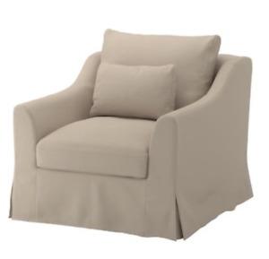 IKEA FARLOV Armchair Cover, Flodafors Beige Slipcover 903.066.66 NEW