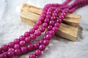 """8mm faceted magenta stone dyed Jade Stone Beads Lots Pink Jewellery Making 15"""""""