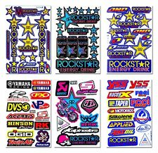 Rockstar Energy Stickers Sponsor Logo Motorcycle Bike Helmet Motocross Decals #1