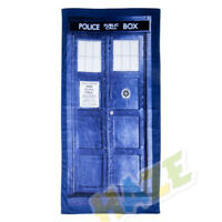Doctor Who Tardis Door Design Blue Cotton Bath/Beach Towel 100cmX75cm Gift