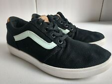 Vans Athletic Walking Shoes Sneakers Women's size 6.5 Black/Mint VERY NICE