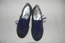 Glitter Effect Lace Up Navy Shoes Marks & Spencer Size UK 10 EUR 28 (Child) New