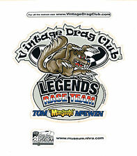 Drag Racing NHRA Sticker Decal Tom The Mongoose McEwen silver