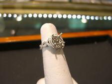 FINE INFINITY 18 KARAT WHITE GOLD DIAMOND ENGAGEMENT RING SETTING NEW 0.35 DIA