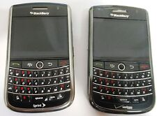 Lot of 2 BlackBerry 9630 Black/Silver Frame Verizon/Sprint For Parts Good LCD