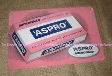 New ASPRO TIN SIGN retro vintage PINK advertising box medicine bathroom kitchen