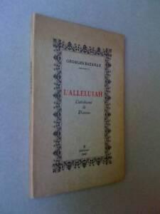 Georges Bataille L'alleluiah 1947 K editeur 800ex
