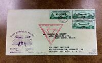 US C18  FDC 3 Stamps ZEPPELIN  OCT. 2 1933  NY to Germany back to Chicago