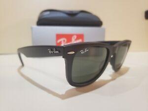 Ray-Ban 2140 Wayfarer 901 S Black Sunglasses 50mm New Authentic