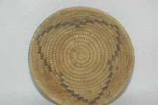 Antique Papago Woven Bear Grass,Devil Claw & Yucca Design Basket 7.5""