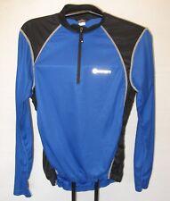 Canari Long Sleeve Cycling Jersey Half Zip Back Pockets Sz M