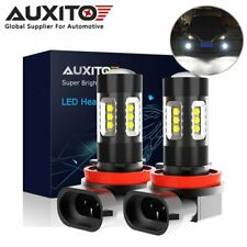 2x AUXITO H11 H8 H9 H16 CREE LED Fog Driving DRL Light Bulb 160W 4000LM 6500K