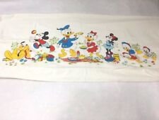 Fashion Manor JC Penny Vintage Disney Mickey Minnie Mouse Single Flat Bed Sheet