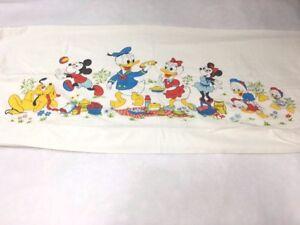 Fashion Manor JC Penny Vintage Disney Mickey Minnie Mouse Single Flat Bed Sheet