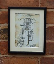 USA Patent Drawing  MOTORBIKE FRONT REAR WHEEL DRIVE  MOUNTED PRINT 1948 Gift