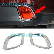 for 2014-2018 Toyota Highlander Chrome Rear Bumper Fog Light Lamp Cover Decor