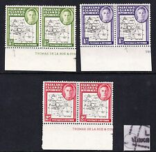 F.I.DEPS 1946 SET OF 3 WITH RUBBED 'A' MNH/ MINT.