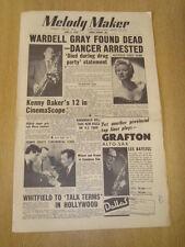 MELODY MAKER 1955 JUNE 4 WARDELL GRAY KENNY BAKER PEGGY MCDONALD JAZZ SWING