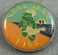 US Navy Seal Team 5  Pin  / Clutchback / Style B