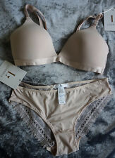 6caa32496e24e5 RRP $85.90 Sz 12 (M) WIREFREEE NUDE BRA & BIKINI BRIEF SET LOVABLE ABEY