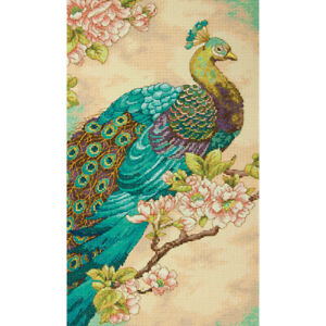"""Dimensions Counted Cross Stitch Kit 9""""X15""""-Indian Peacock (14 Count)"""