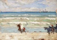 James Wilson Morrice: Beach Scene Tangier. Fine Art Print/Poster