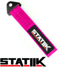RACING TOW/TOWING STRAP STATIIK RATED AT 10,000 LBS FOR CAR/TRUCK/SUV PINK S3
