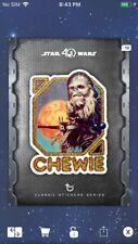 Topps Star Wars Digital Card Trader Steel Sticker Series Chewie Insert Award
