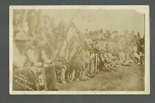 Browning MONTANA RP 1910 BLACKFEET INDIANS Indian GRASS DANCE CIRCLE Crowd