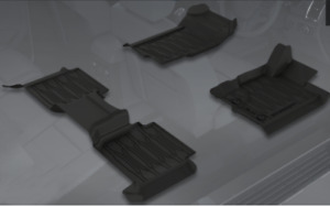 Genuine Ford Everest Rubber Floor Mat Set All Weather Mats 2019 to Current Only