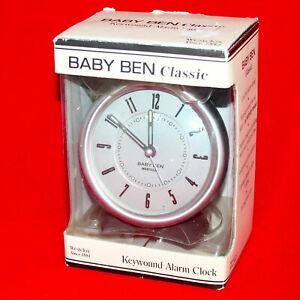 New WESTCLOX Baby Ben Classic Deluxe Keywound Alarm Clock 11505 Loud Bell Sound