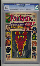 Fantastic Four #54 CGC 8.0 VF Unrestored Marvel 3rd Black Panther Inhumans CR/OW