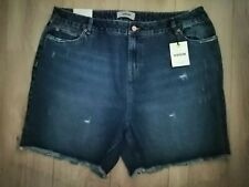 ref 688 NEW LOOK LADIES DISTRESSED DENIM SHORTS BLUE NEW