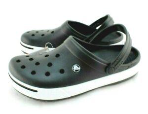 NWT CROCS Croc Band II Size Men's 12 Black / White Color Comfort Clogs MSRP $49