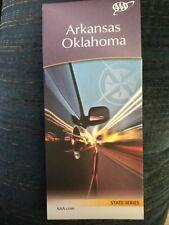 ARKANSAS OKLAHOMA STATE SERIES HIGHWAY MAP AAA 2/18-5/19 NEW