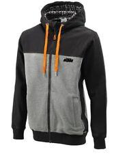 KTM Premium Hoodie Men's Zip Hooded Sweat Jacket Black Grey New
