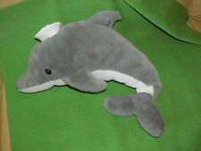 "Sassy VTG dolphin w/Sailor Hat & Squeaker Nose Plush Stuffed Animal Toy 20"" long"