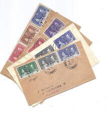 1937 Royal Coronation FDC Lot of 4 - Malaya Straits Settlements Singapore*
