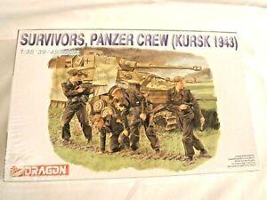 1/35 Dragon 4 German Tank Crew Survivors Panzer Crew Kursk 1943 # 6129