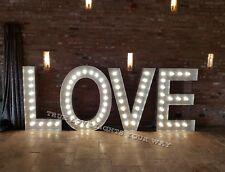 5ft Hand Crafted Wedding Engagement Light Up Love Letters For Hire Nottingham