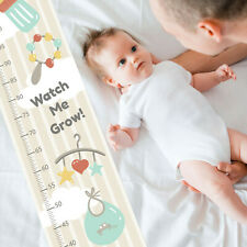 Baby Rattle Dummy Bottle Custom Measuring Height Growth Chart +8 Wall Stickers