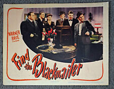 FIND THE BLACKMAILER original 1943 lobby card poster GENE LOCKHART/FAYE EMERSON