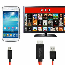 MHL Micro USB to HDMI Cable TV Out Lead 1080p for Samsung, Sony, HTC & NOKIA UK