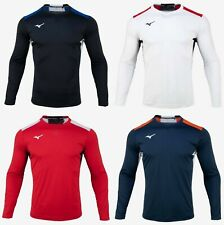 Mizuno Men Football 6 L/S T-Shirts Jersey Training White Tee Shirt P2MA0K5201