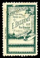 France Poster Stamp - E. Bellamy, Paris - Papeterie - Stationery Store
