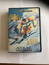 Winter Challenge Game - Sega Mega Drive - Complete With Instruction Book