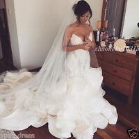 Luxury Beaded Mermaid Wedding Dresses Sweetheart Appliques Bridal Gowns Custom