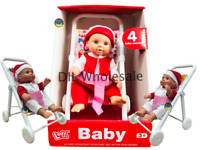 Baby Dolly My First Dolls Pram Buggy Pushchair & Baby Doll Stroller Set Girls 3+