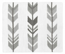 Baby Kids Floor Rug for Sweet Jojo Grey and White Woodland Arrow Bedding Sets